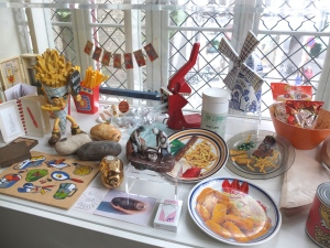 Fry Memorabilia in Friet Museum, Bruges,